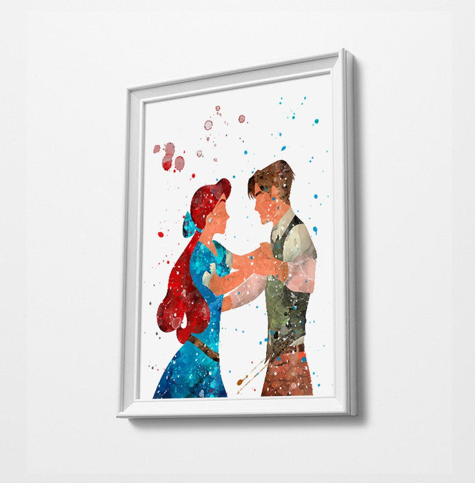 Princess Minimalist Watercolor Art Print Poster Gift Idea For Him Or Her | Nursery Art |
