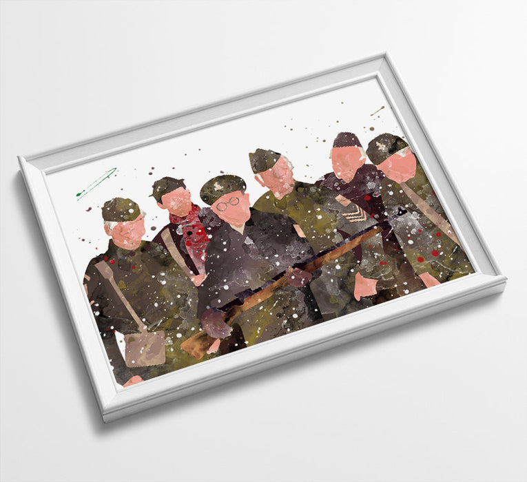 Dads Army Minimalist Art | Watercolor Art Print Poster Gift Idea For Him Or Her | British Tv Comedy