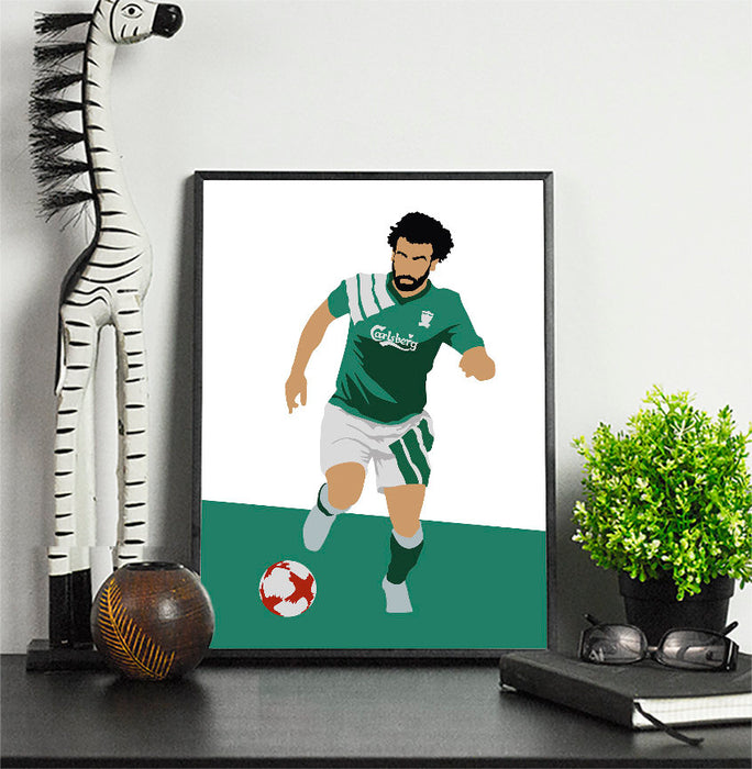 Mo #11 Classic Kit Football Print \ Minimalist Art Print Poster Gift Idea For Him \ Soccer \ Gift for Husband Boyfriend