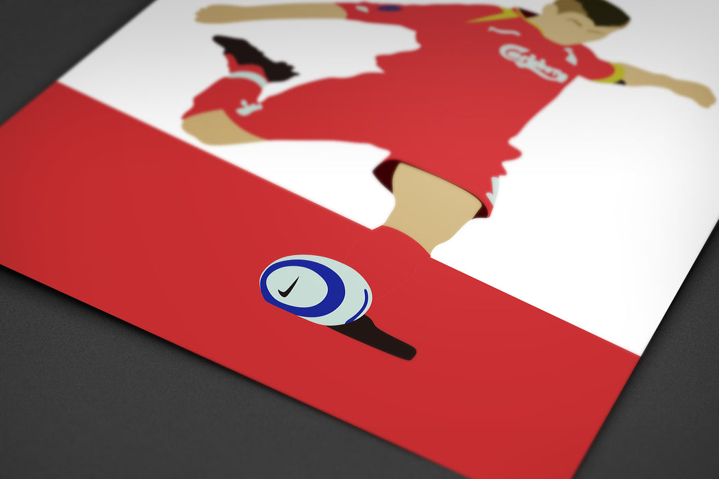 Gerrard Football Print \ Minimalist Art Print Poster Gift Idea For Him \ Soccer \ Gift for Husband Boyfriend