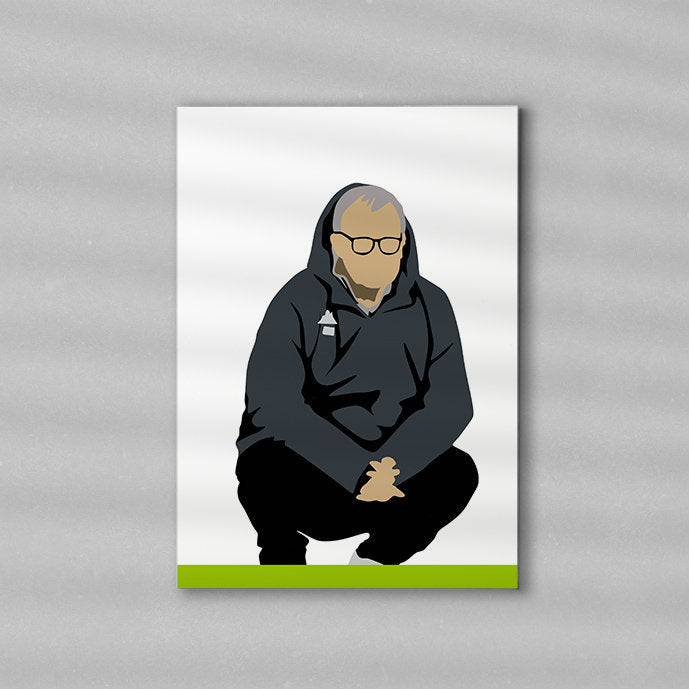 Bielsa Print \ Minimalist Art Print Poster Gift Idea For Him \ Soccer \ Gift for Husband Boyfriend
