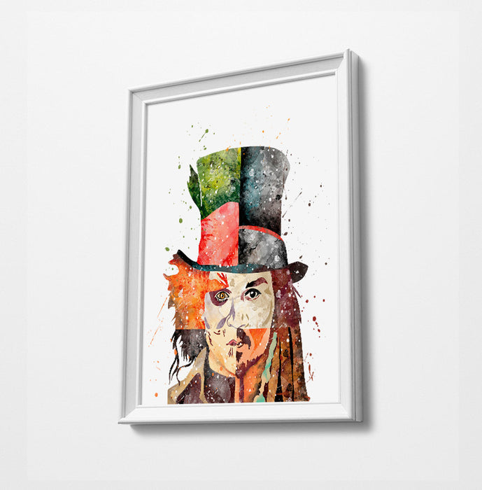 Faces of Johnny Depp | Minimalist Watercolor Art Print Poster Gift Idea For Him Or Her |  Art |