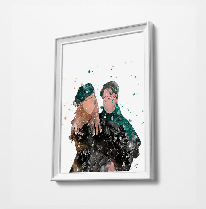 Lily and James Movie Minimalist Watercolor Art Print Poster Gift Idea For Him Or Her | Movie Artwork