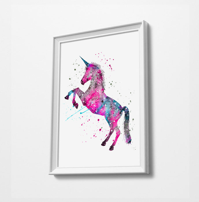 Unicorn Girls Room | Minimalist Watercolor Art Print Poster Gift Idea For Him Or Her