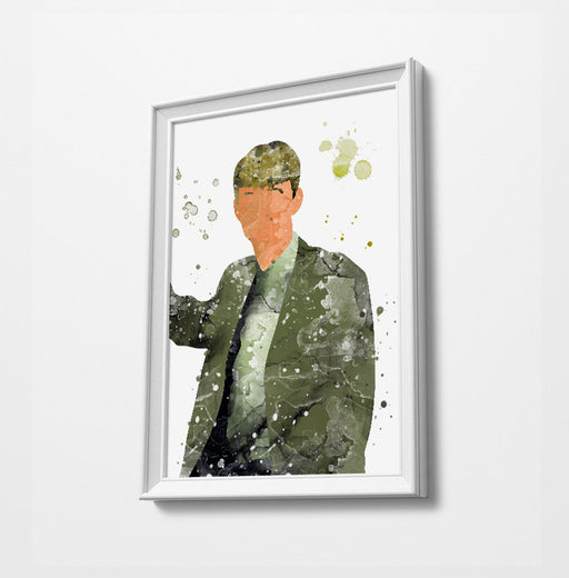 Gareth | Minimalist Watercolor Art Print Poster Gift Idea For Him Or Her | British Tv Comedy