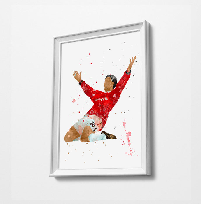 Ole | Minimalist Watercolor Art Print Poster Gift Idea For Him Or Her | Football | Soccer