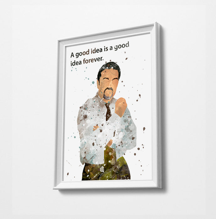Brent Quote (custom quote available) | Minimalist Watercolor Art Print Poster Gift Idea For Him Or Her | British Tv Comedy