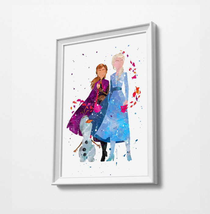 Frozen 2 | Minimalist Watercolor Art Print Poster Gift Idea For Him Or Her |