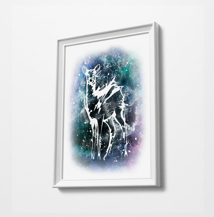 Doe Movie Minimalist Watercolor Art Print Poster Gift Idea For Him Or Her | Movie Artwork