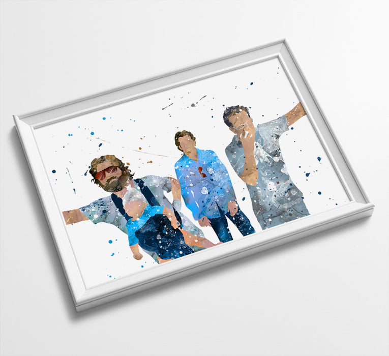 Phil, Stu and Alan | Movie Minimalist Watercolor Art Print Poster Gift Idea For Him Or Her | Movie Artwork