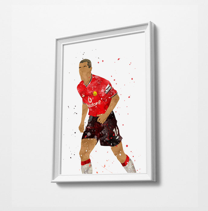 Classic Keane Minimalist Watercolor Art Print Poster Gift Idea For Him Or Her | Football | Soccer