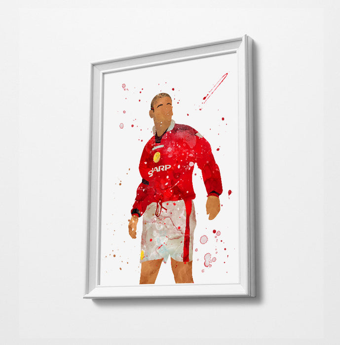 King Cantona 1997 | Minimalist Watercolor Art Print Poster Gift Idea For Him Or Her | Football | Soccer