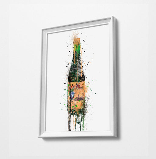 Bucky Bottle Print | Minimalist Watercolor Art Print Poster | Canvas | Gift Idea For Him Or Her | Home Decor |