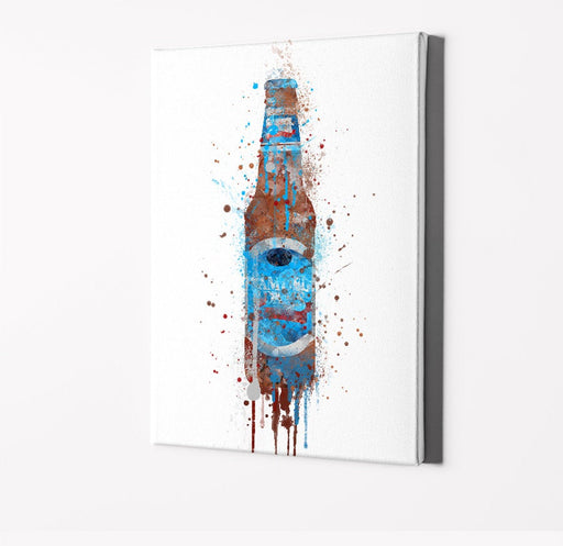 Beer Bottle Print | Minimalist Watercolor Art Print Poster | Canvas | Gift Idea For Him Or Her | Home Decor |