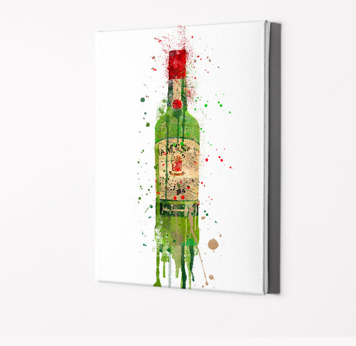 Classic Whiskey Bottle Print | Minimalist Watercolor Art Print Poster | Canvas | Gift Idea For Him Or Her | Home Decor |