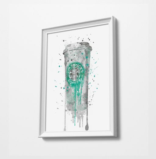 Coffee Cup Print | Minimalist Watercolor Art Print Poster | Canvas | Gift Idea For Him Or Her | Home Decor |