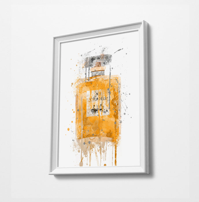Perfume Print | Minimalist Watercolor Art Print Poster | Canvas | Gift Idea For Him Or Her | Home Decor |