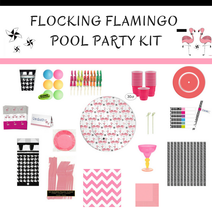 Flocking Flamingo Pool Party Kit