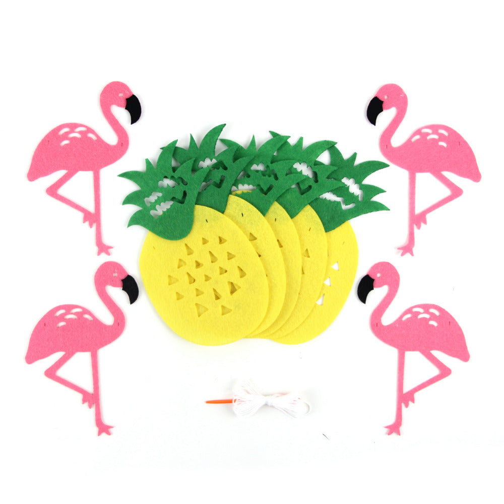 Flamingo and Pineapple Party Banner Decoration, Set of 1 – Blue Frog ...