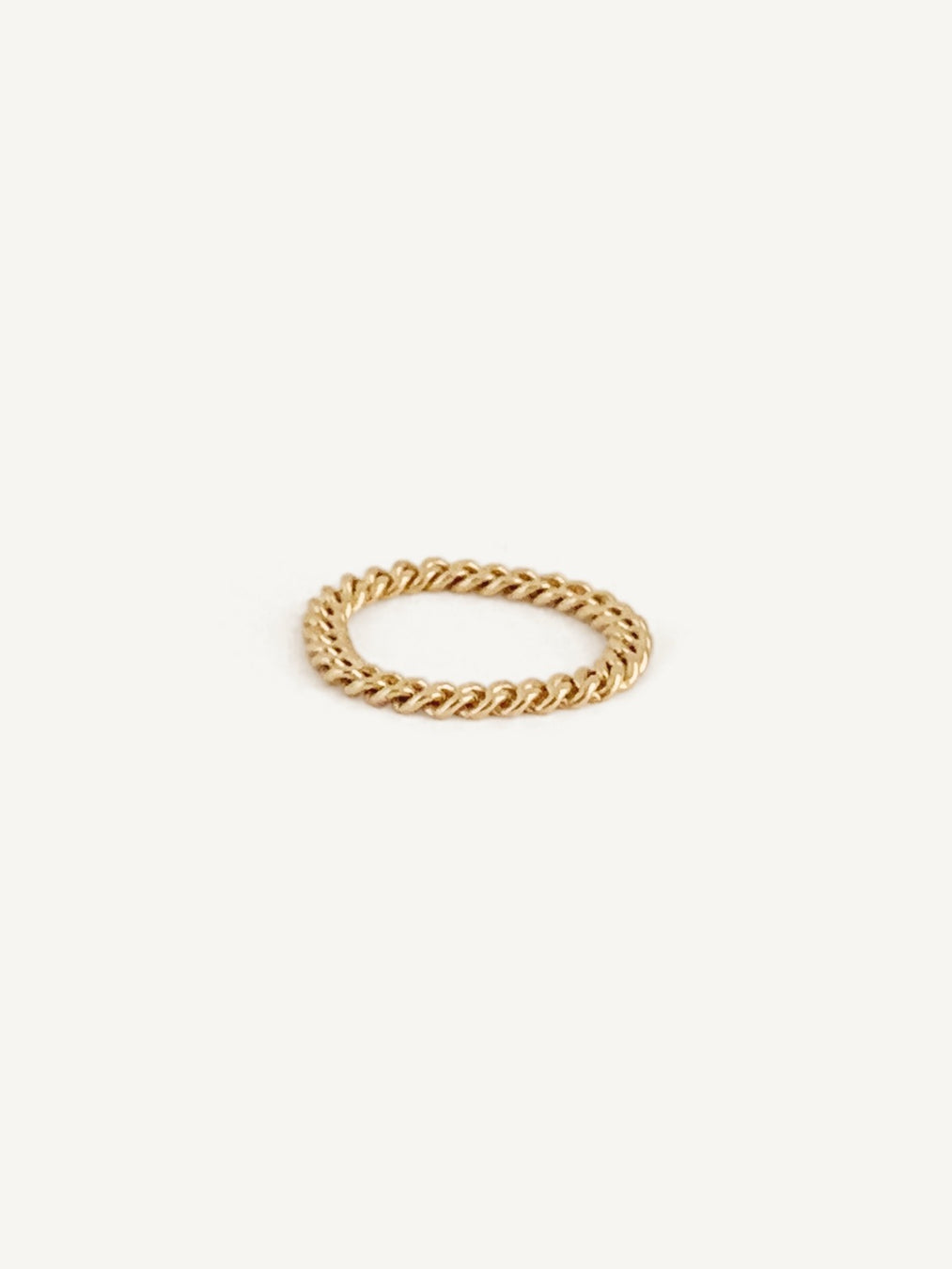 14k Capri Curb Chain Ring