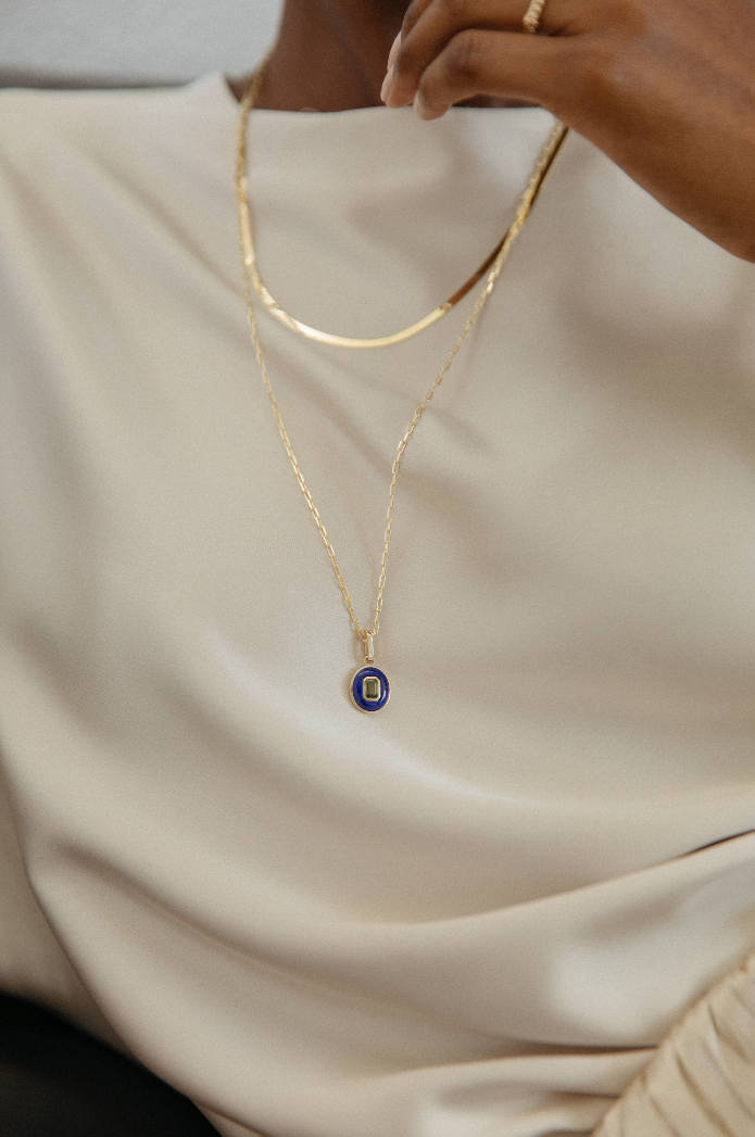 Amalfi Oval Pendant With Chain
