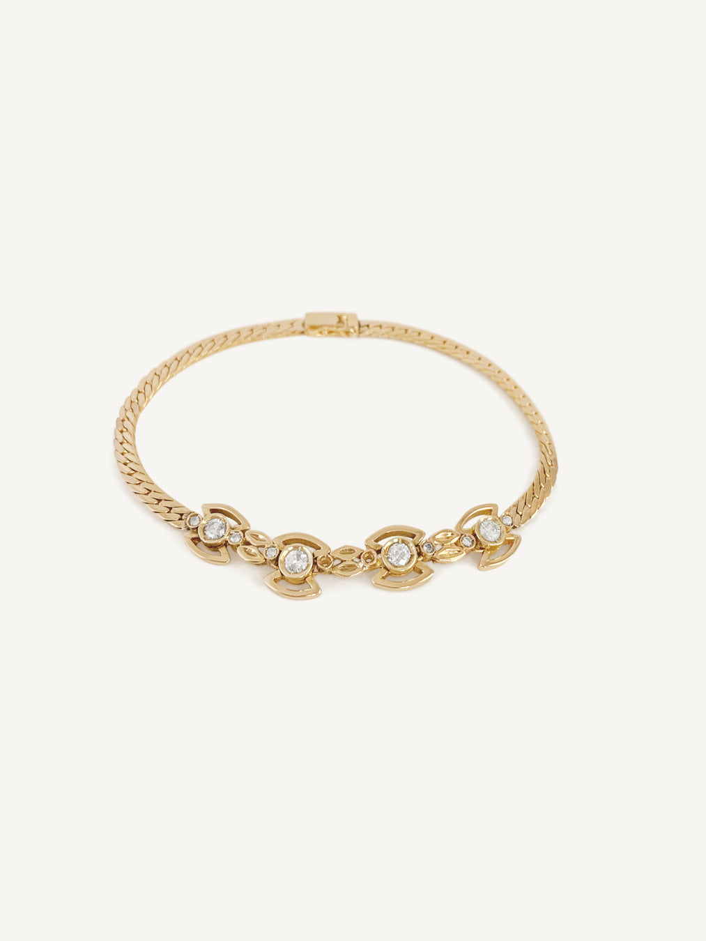 14k Diamond Angel Bracelet