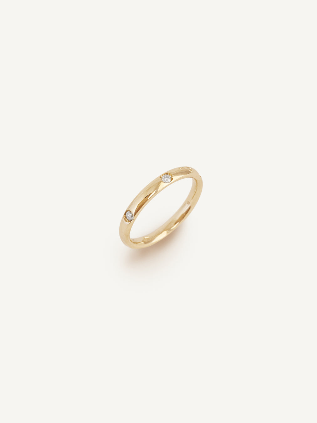 14k Six Diamond Round Ring