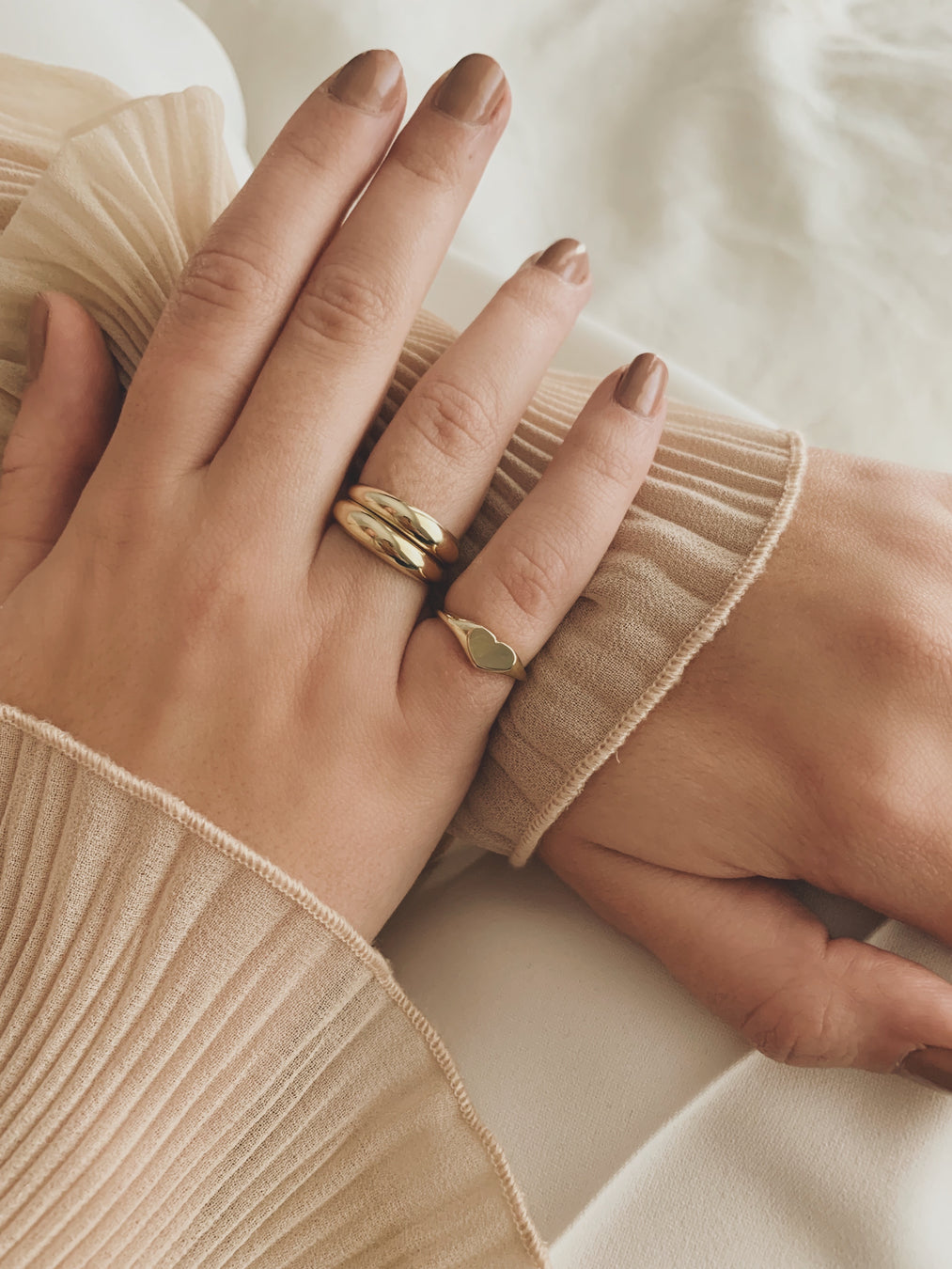 Double Dare To Love Dome Ring (Gold & Gold)