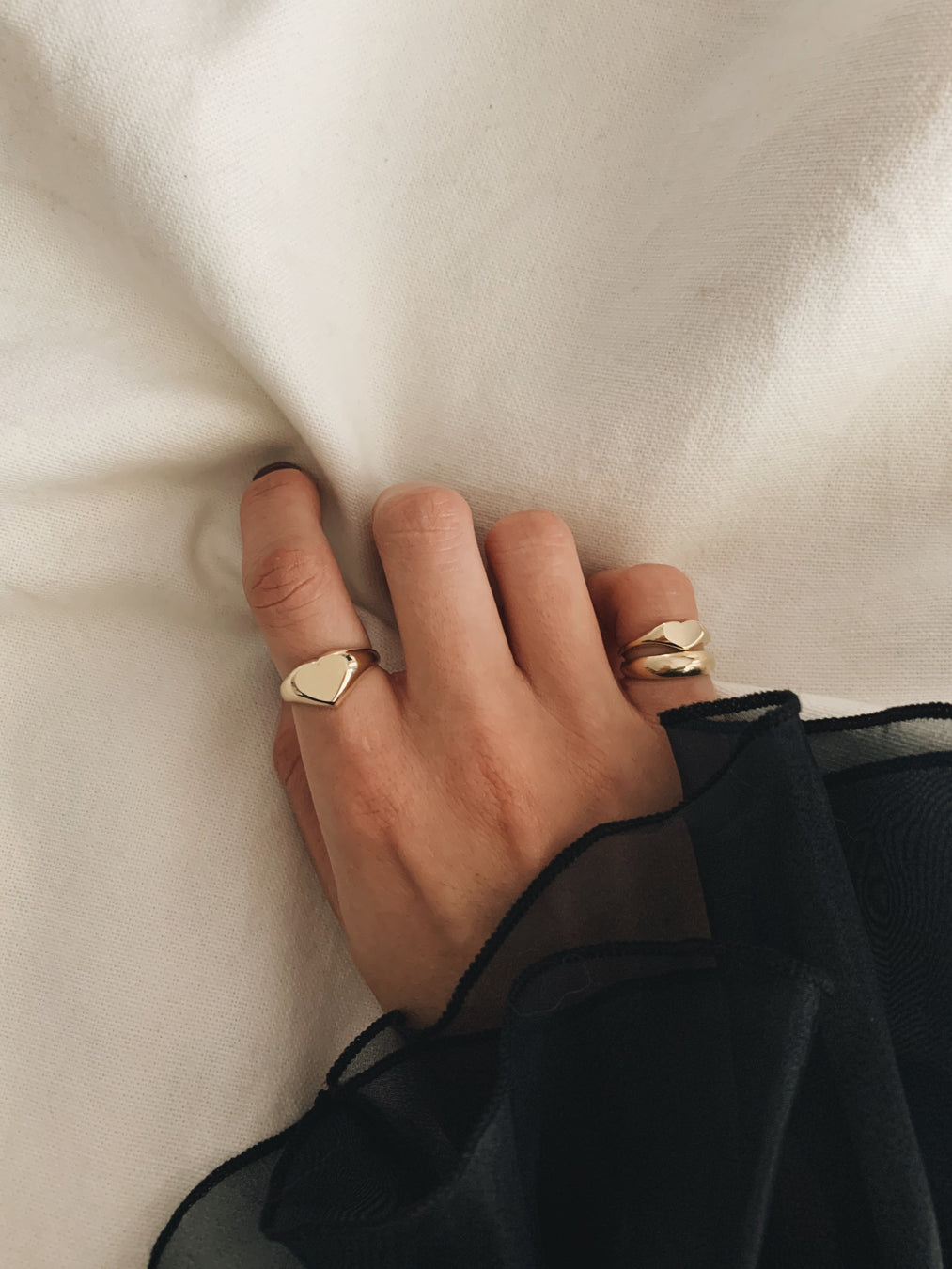Classic Heart Signet Ring