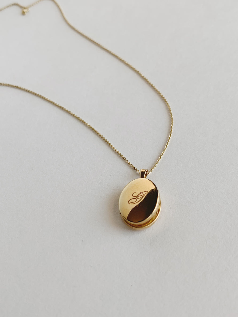 Maison Gold Oval Locket Necklace