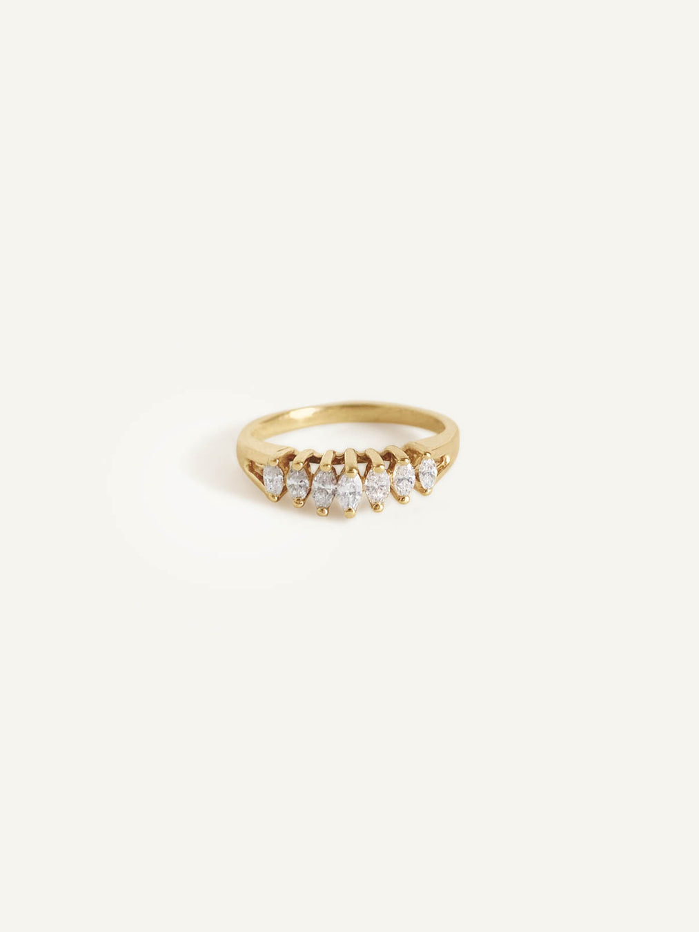 14k Marquee Diamond Ring