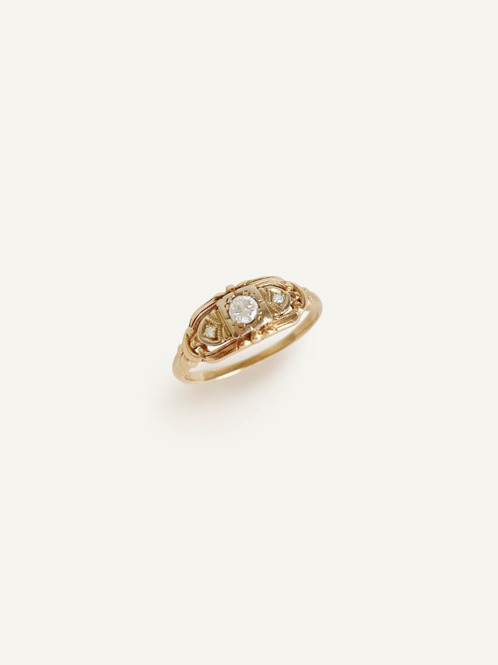 14k Diamond Round Band