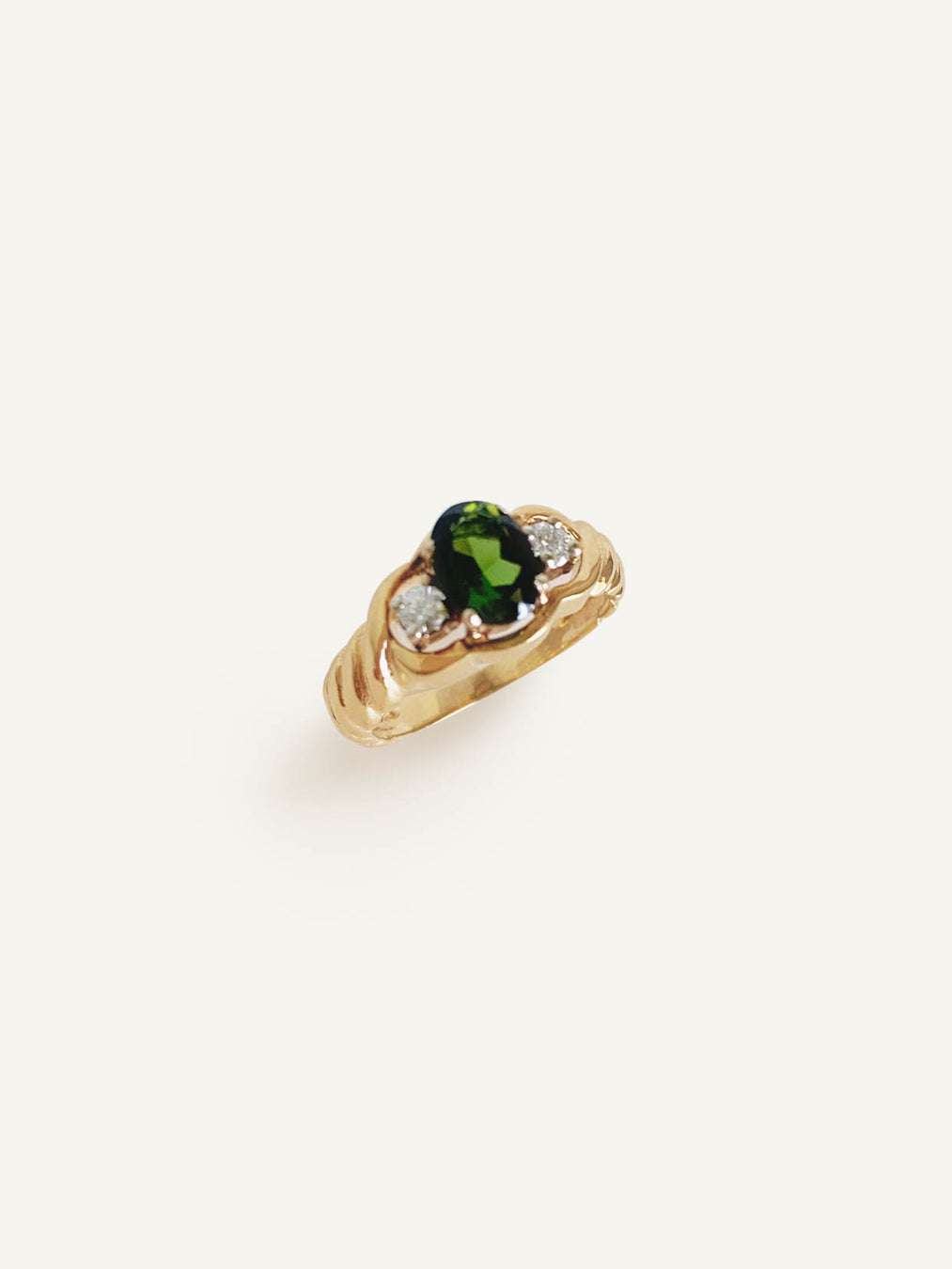 14k Oval Tourmaline Ring