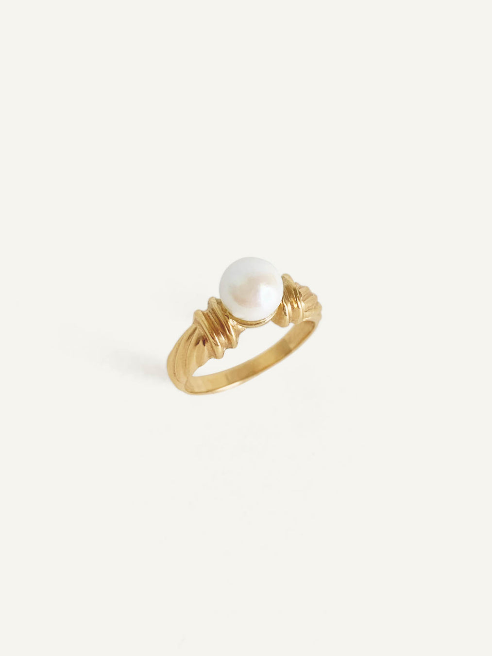 14k Gold with Akoya Pearl Ring