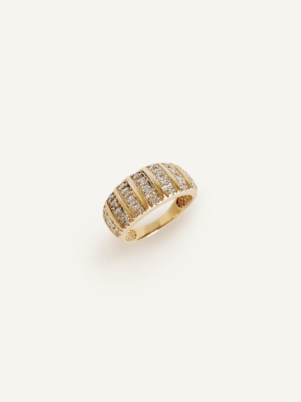 14k Diamond Dome Ring