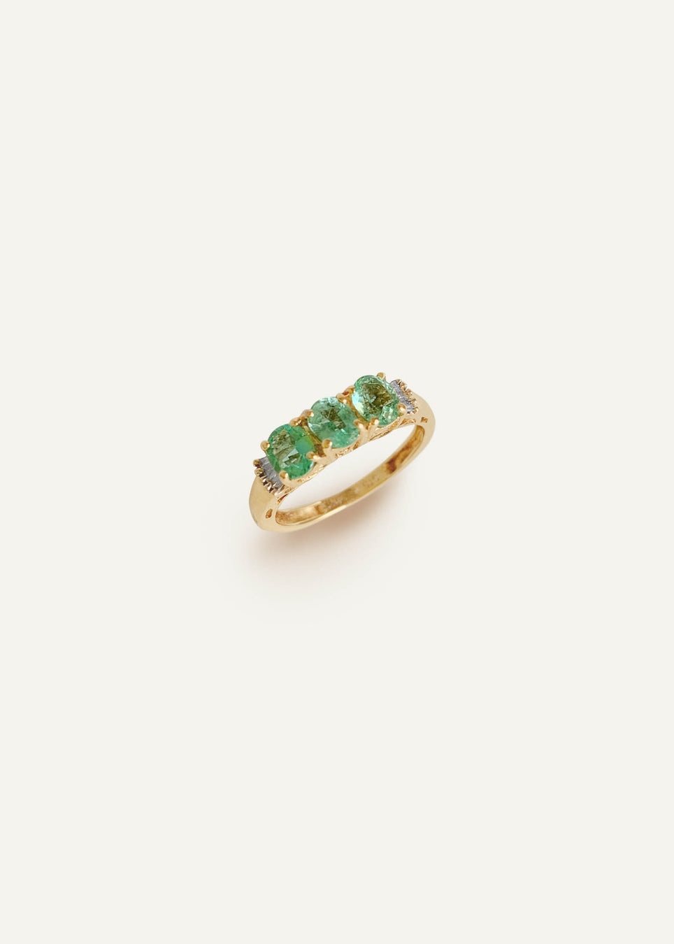 14k Trio Tourmaline Ring