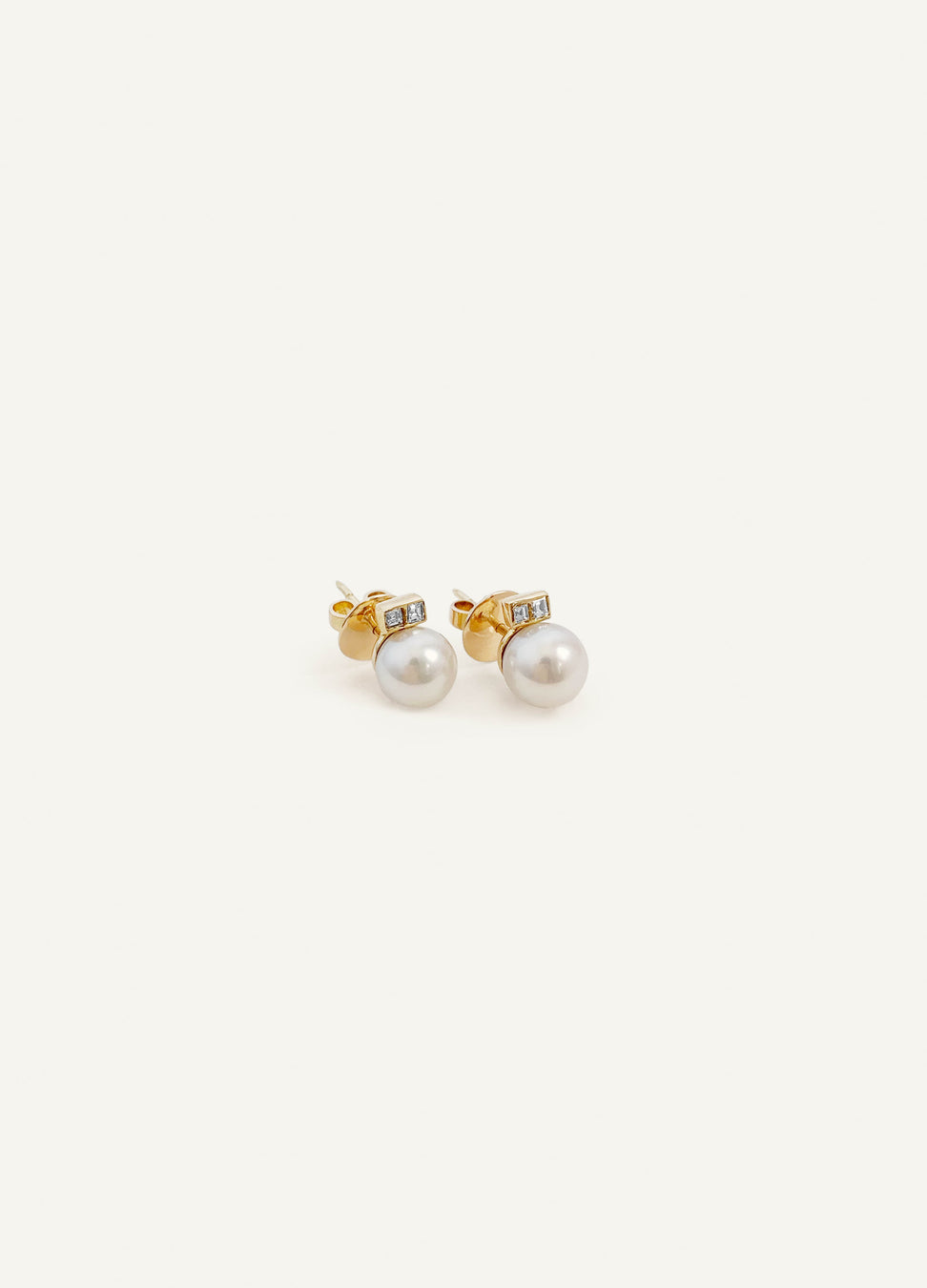 14k Pearl with Diamond Earrings