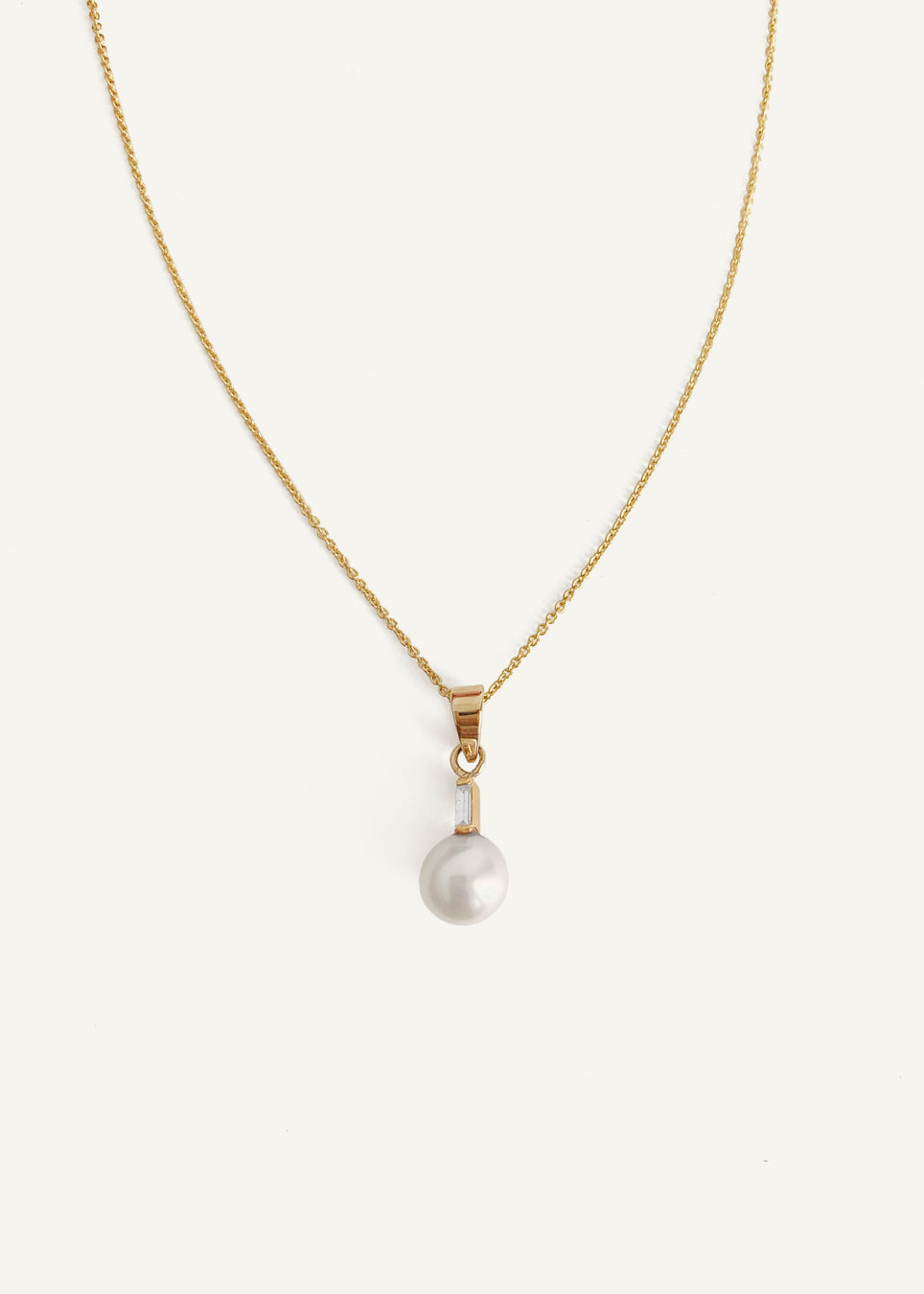 14k Pearl with Diamond Necklace