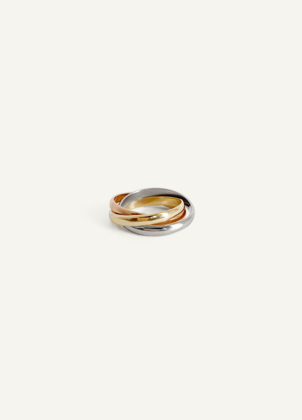 14k Tri Colored Ring