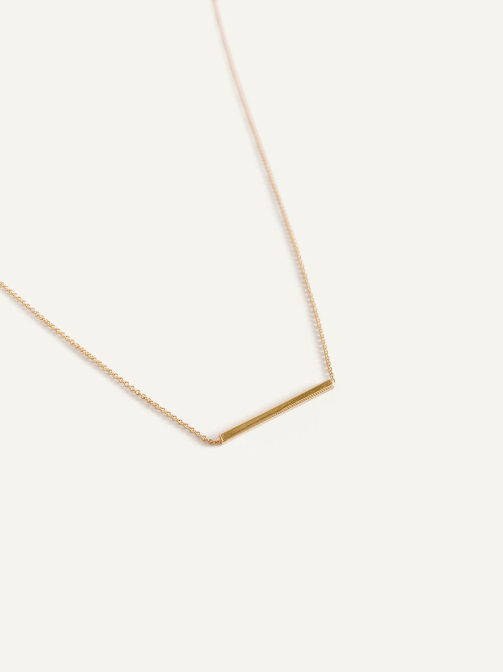 14k Petite Bar Necklace