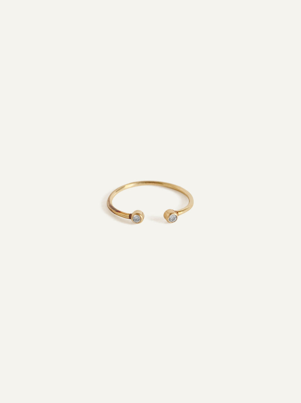 14k White Diamond Cuff Ring