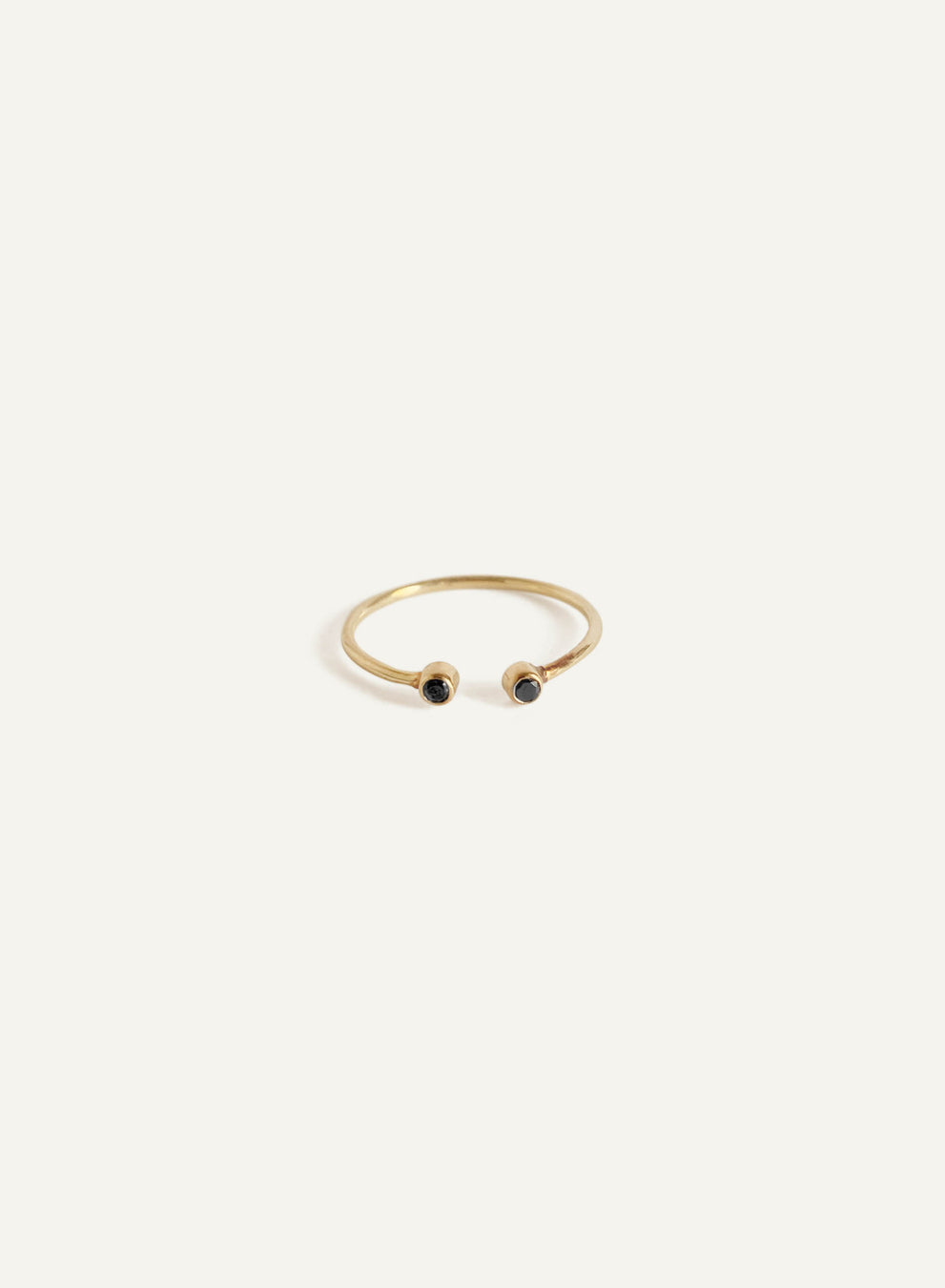 14k Black Diamond Cuff Ring