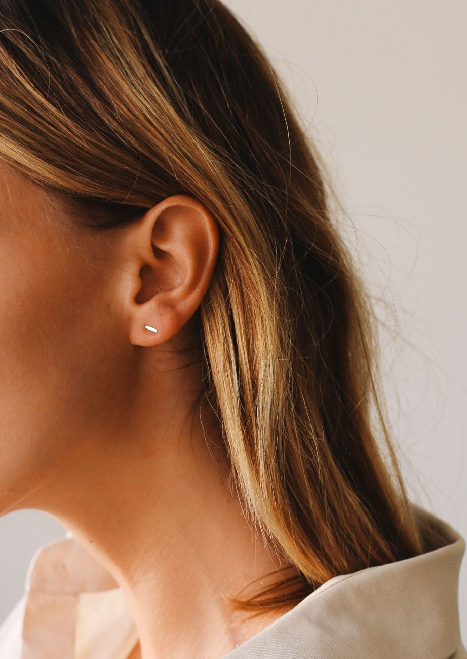 Petite Bar Stud Earrings