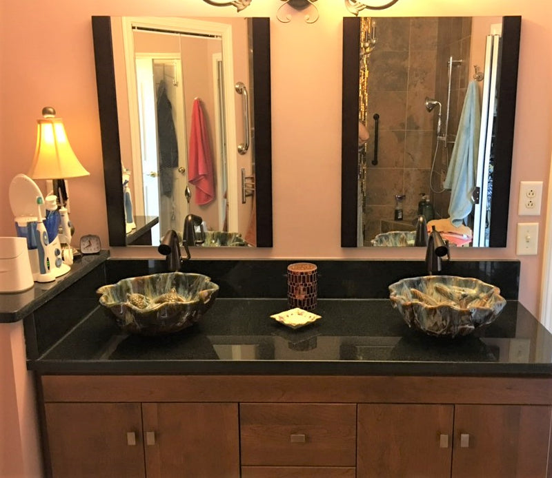 Ceramic Above Vessel Sinks, Double Vanity Sinks, Bathroom Porcelain Sinks 18x5.5 $1,995.00 SI92
