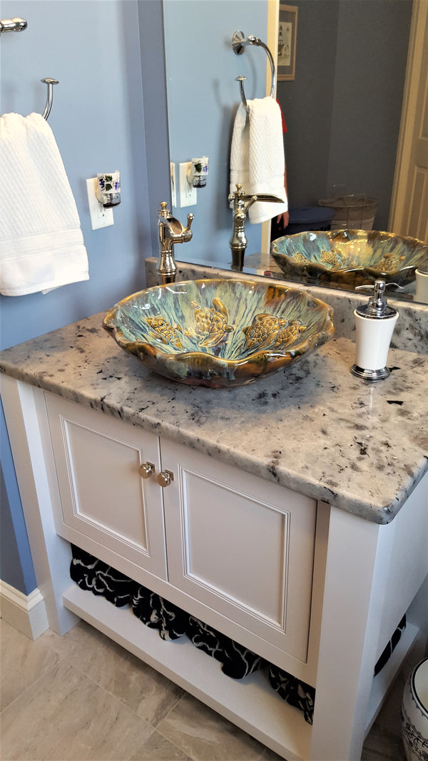 Ceramic Above Vessel Sinks, Double Vanity Sinks, Bathroom Porcelain Sinks 18x5.5 $1,995.00 SI07