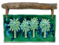 Ceramic Palm Tree Wall Hanging, Modern Palm Tree Art Decor, Kitchen Backsplash  Art - Maui Ceramics