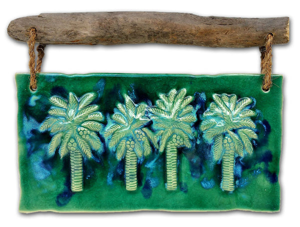 "Maui Swaying Palm Trees w/ Driftwood 17.5""x13"" DW27 $345.00"
