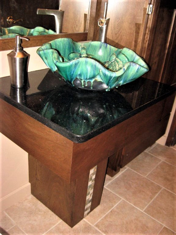 Ceramic Above Vessel Sinks, Double Vanity Sinks, Bathroom Porcelain Sinks 18x5.5 $1,995.00 SI98