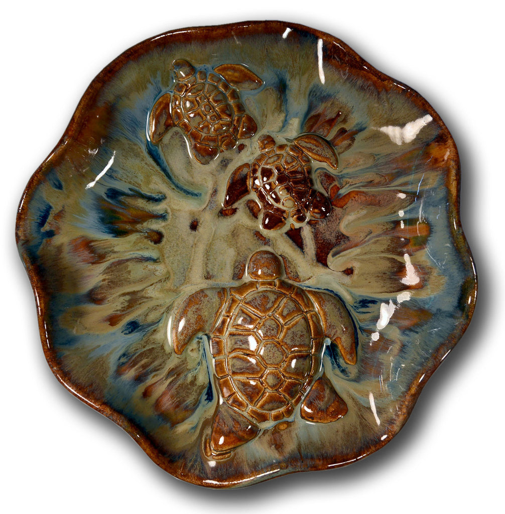 "Wall Plaque Turtles Design 2.5""× 16"" B58"