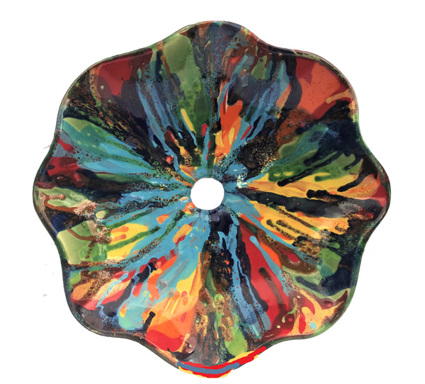 Abstract Multi-Color Above Vessel Sink